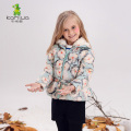KAMIWA 2017 Floral Printing Baby Girls Winter Coats Wool-like Collar Down Parkas Jackets Kids Clothes Children Clothing
