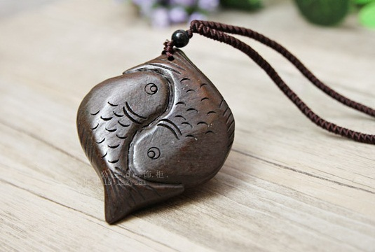 carved necklace classic exotic wooden mens man aluminum pin pendant wood