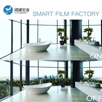 Wholesale 100x2000cm PDLC Smart film for Window Glass Home Decoration Switchable Smart Film Magical Privacy Vinyl
