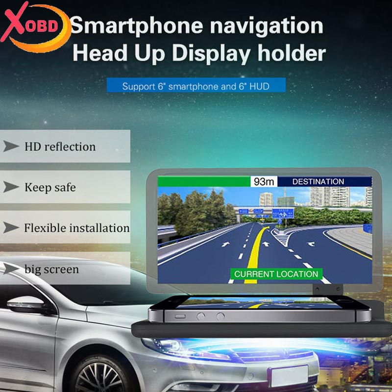 Universal <font><b>Car</b></font> <font><b>HUD</b></font> Holder Head Up Display <font><b>GPS</b></font> Navigator Phone <font><b>Smartphone</b></font> Projector Reflection Board Panel <font><b>H6</b></font>