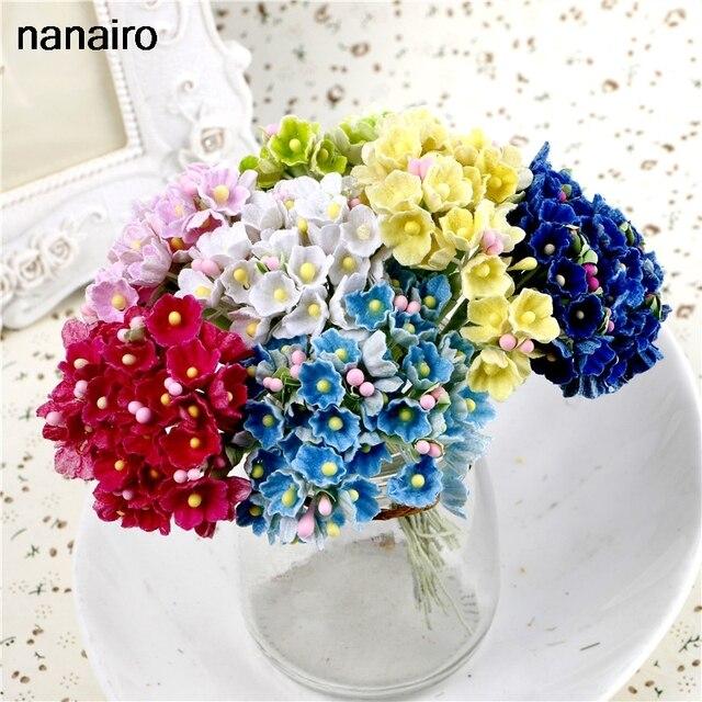 8 шт букет 1 см мини бумажные розы Свадебное Оформление букета для DIY  Скрапбукинг сливы aba5448e60e0e