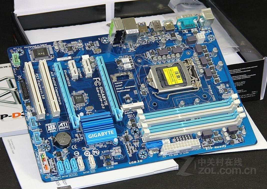 все цены на  original motherboard  GA-Z77P-D3 DDR3 LGA1155 boards Z77P-D3 32GB Z77 desktop motherboard  онлайн