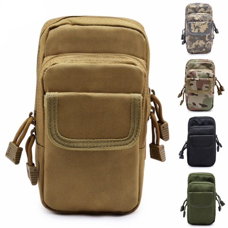 CQC Outdoor Military Army Tactical Molle Waist Pack EDC Tool Utility Sundries Phone Pouch Hunting Bag
