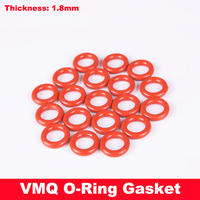90pcs 15x1.8 15*1.8 16x1.8 16*1.8 17x1.8 17*1.8 (ID*Thickness) VMQ Food Grade Red White Silicone Oil Seal O Ring Gasket