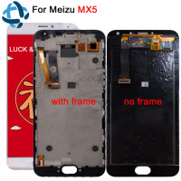 1920*1080 For meizu MX5 LCD Display Digitizer Touch Screen Glass Replacement Parts Meizu MX5 Cellphone With Frame+track