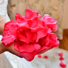 1000pcs/lot Silk Artificial decorative Flower Petals Wedding Party rose confetti RD Valentine petale rose flores artificiales