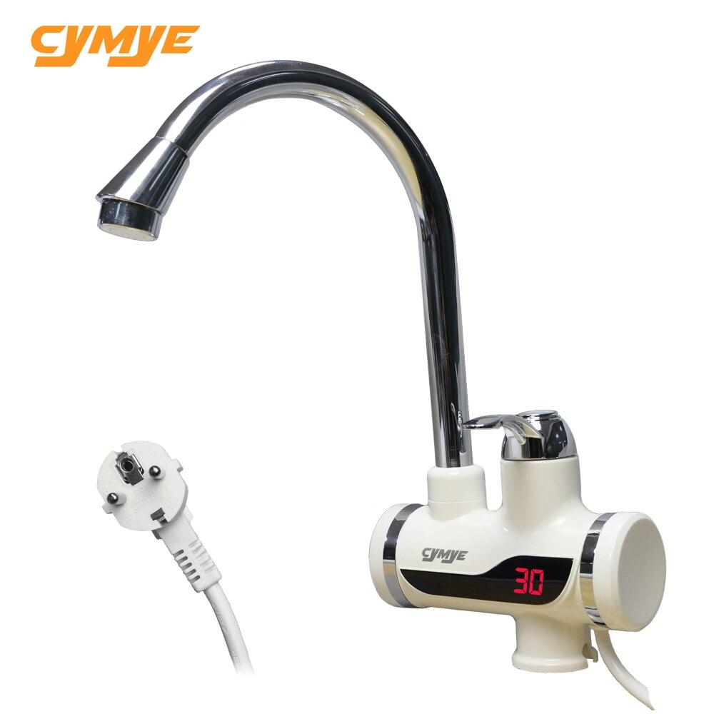 Cymye Instantané sans réservoir électrique cuisine chauffe-eau robinet avec LED digital light