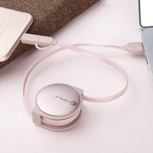 2 in 1 Retractable USB Charger for iPhone and Android