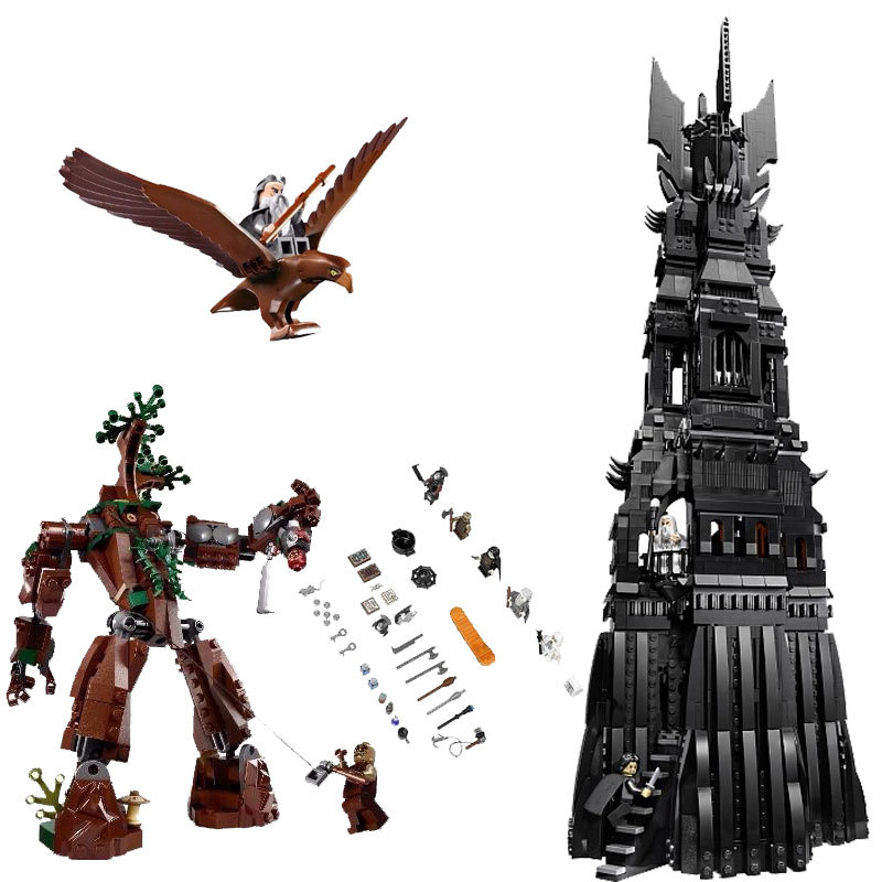 Lepin Lord of the Rings 16010 The Tower of Orthanc 2430Pcs Building Blocks Toys For Children Compatible for Legoing Hobbit 10237 цена