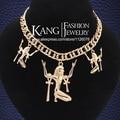 2016 de Moda de Nova do punk Banhado A Ouro Egito Faraó último rei colares & pingentes Para As Mulheres Homens Na Moda Jóias Africano