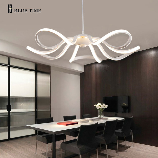 moderne lustre lumi re pour salle manger salon led plafond lustres lampe accueil d coratif. Black Bedroom Furniture Sets. Home Design Ideas