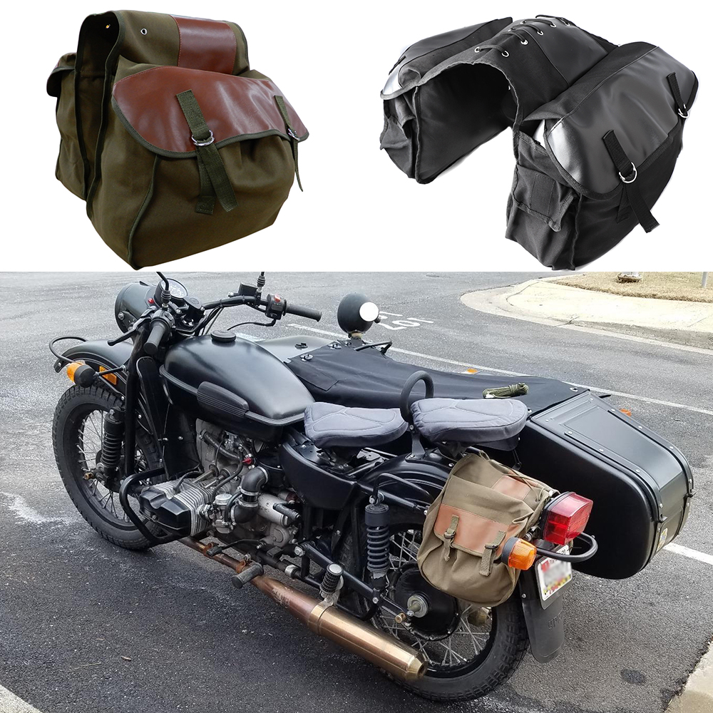 Motorcycle Bag Saddlebag Travel Knight Rider for Yamaha for BMW for Kawasaki motorcycle saddle bag Brown Black Motorcycle Parts