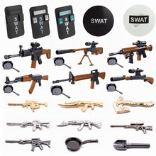 Xin-Yue Blocks Military SWAT Shield Toy Guns Single Sale Building Blocks Toys For Children Military Blocks SWAT Army Toy Gifts(China)