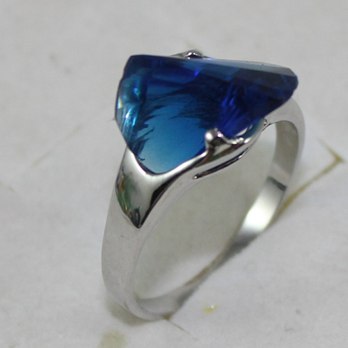 ladys noble blue crystal Ring