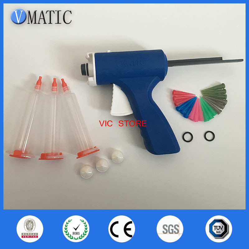 10CC / 10ML Single Liquid Manual Epoxy Resin UV Glue Syringe Gun Dispenser 100x 10ml syringe of 44