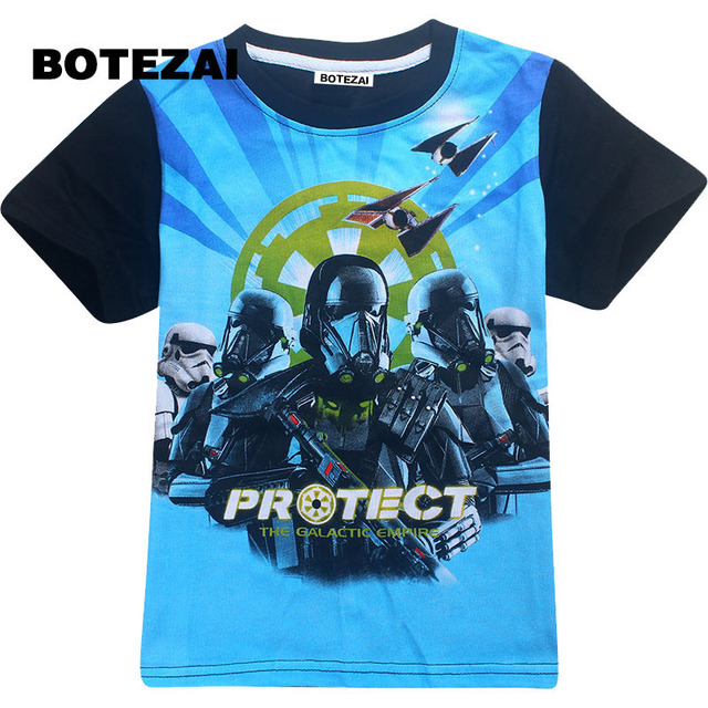 f146f9de 2017 kids clothes boys t shirt Roblox Stardust Ethical cotton t-shirt boys  costume Star wars Rogue One roupas infantis menino