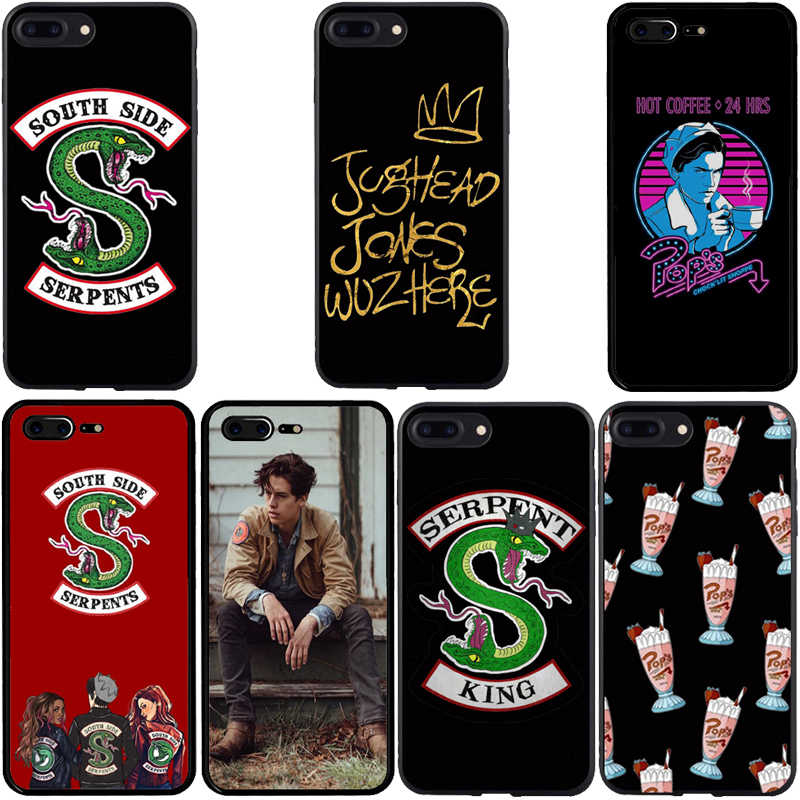 American Hot TV Riverdale Pintado South Side Serpents Case Capa Do Telefone Para O iphone X 8 7 6 Plus 5 4 Casos de Soft TPU