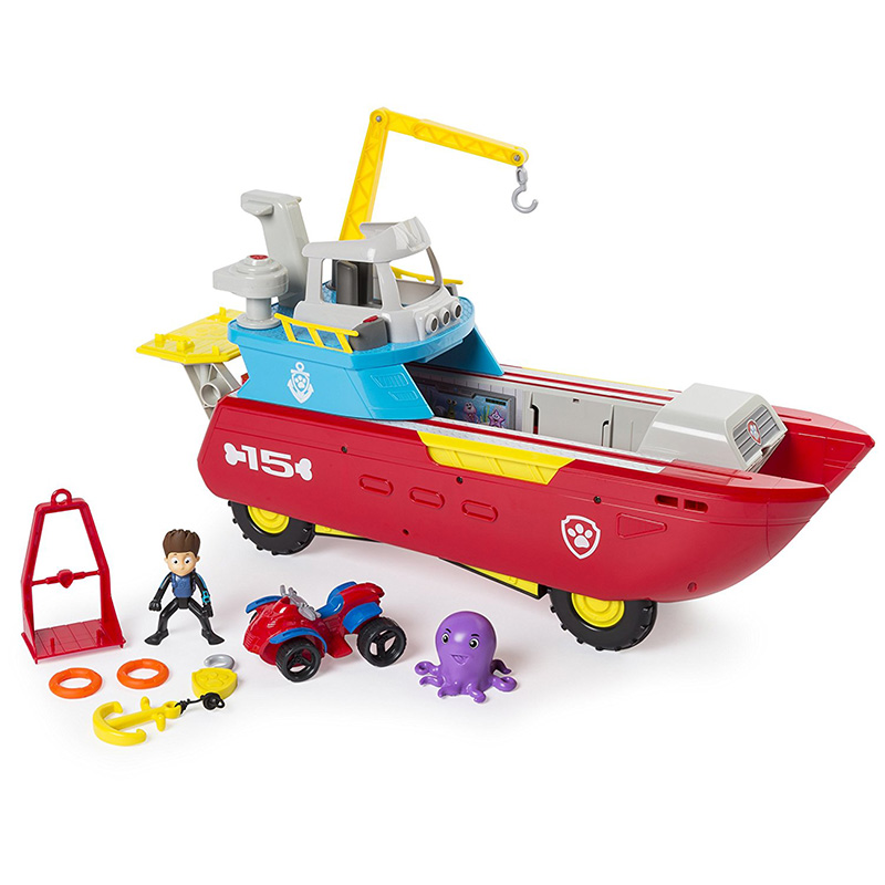 Paw Patrol Dog Marine Rescue Boat Toy Set Patrulla Canina Juguetes Action Figures Toy Set Kids Gift