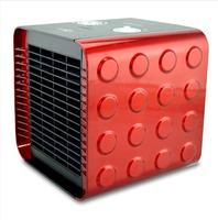 220V Mini 3 Gear Portable Mute Electric Fan Heater Cube Shape Electric Cold And Warm Air Blower Dual Purpose Office Gift