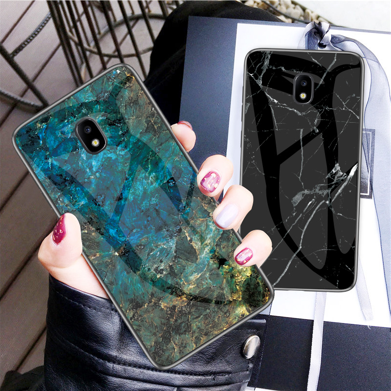Image 2 - Luxury Marble Tempered Glass Phone Case For Samsung Galaxy J6 J4 Plus J8 J3 2018 J5 J7 Pro 2017 J2 Prime J730 Cover Coque Fundas-in Fitted Cases from Cellphones & Telecommunications