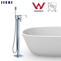 WELS And CUPC Single Handle Bathtub Shower Set Floor Mounted Nickel Brushed Bathroom Wash Basin