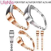 For Fitbit Alta smart watch Metal wristband inlay diamond Replacement bracelet HR accessories