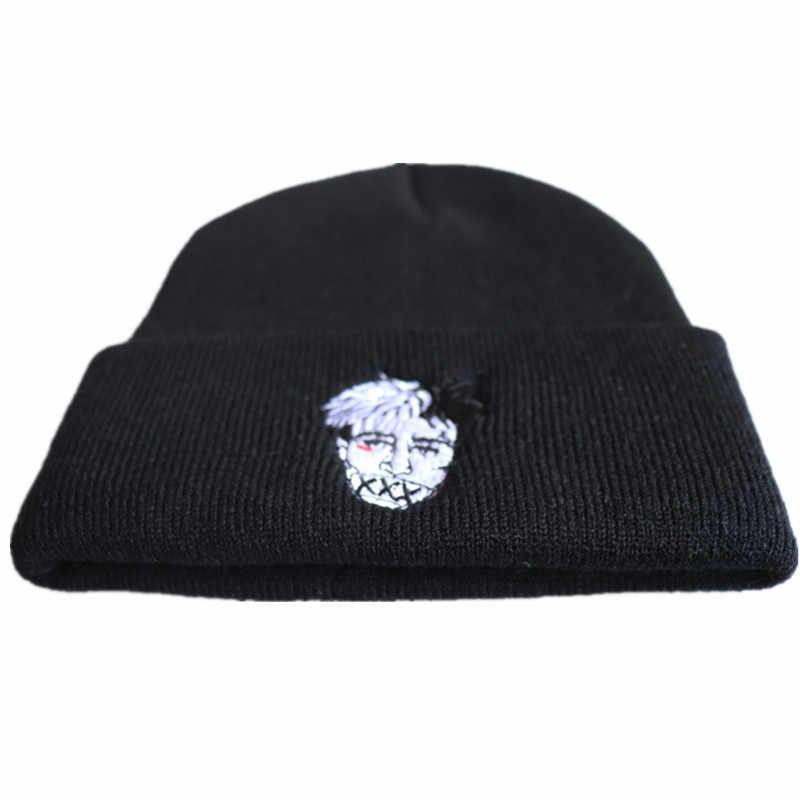 2dbfea757 High Quality xxxtentacion Dreadlocks Very Casual Beanies For Men Women  Fashion Knitted Winter Hat Hip-hop Skullies cap Hats