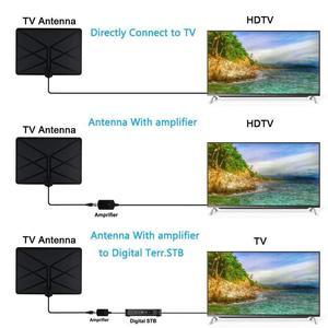 Image 5 - Телевизионная антенна внутренняя усиленная цифровая HD ТВ антенна 960 км Диапазон с 4K HD DVB T Freeview tv для жизни местные каналы вещания