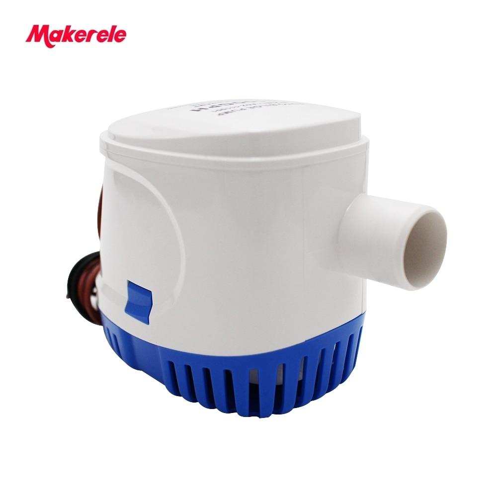 Automatique Pompe De Cale 12 V 24 V 1100GPH 700GPH 600GPH Submersible Eau de Cale Avec Interrupteur Auto Électrique Bateau À Moteur Accessoires