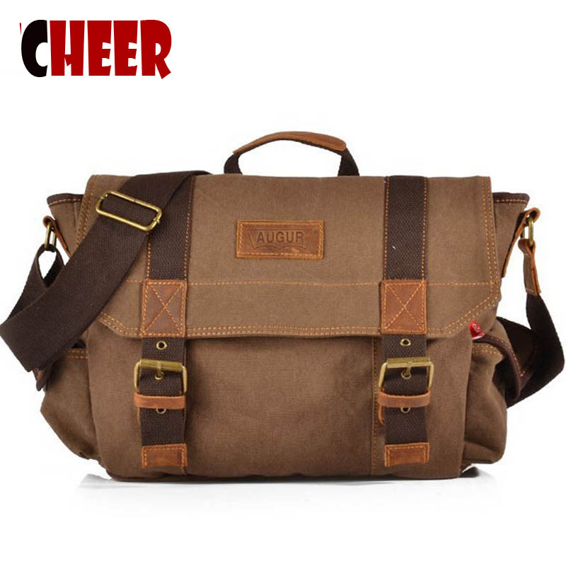 2016 New Men's Fashion Canvas male bag men Vintage messenger bags men's bags totes Bolsa Masculina High Quality Multifunction aosbos fashion portable insulated canvas lunch bag thermal food picnic lunch bags for women kids men cooler lunch box bag tote