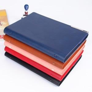 Image 4 - Pu Lederen Losbladige Notebook Journal Ringband Kalender Agenda Clip Planner Custom Logo Metalen Gesp Magneet Dagboek