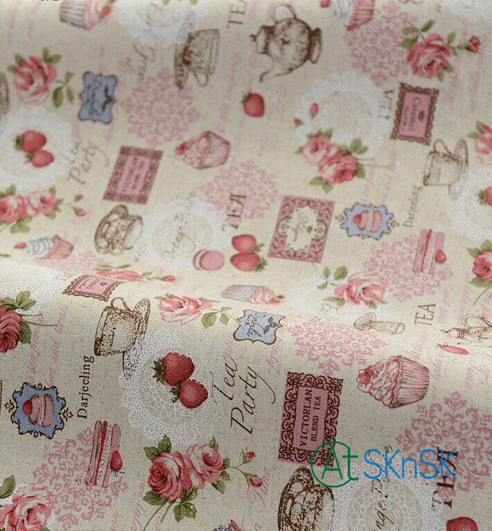 1pcs/lot Fashion Retro design DIY sewing table cloth curtain multi colored picnic cloth handmade cotton linen fabric patchwork