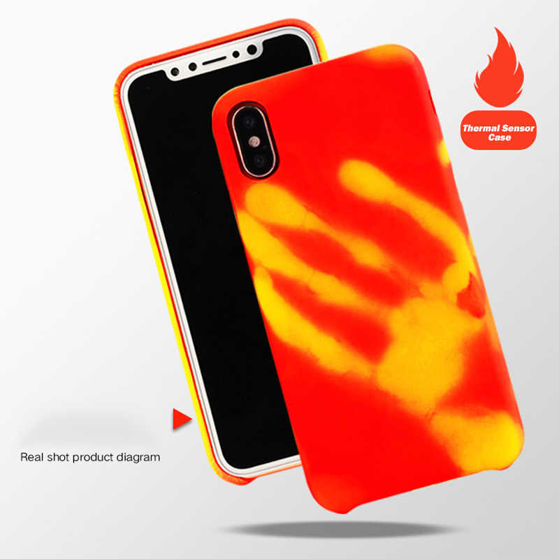Thermal Sensor Phone Cases for iphone X change color with temperature Silicone case For iphone 6 6splus 7 8plus protective cover