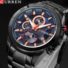 CURREN Men Watches Top Brand Luxury Men Military Wristwatches Full Steel Men Sports Watch Waterproof Relogio Masculino Montre