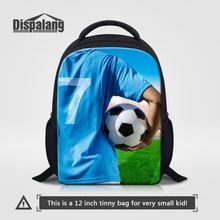 Dispalang Children Preschool Bags Kindergarten Backpack Soccers Footballs Printing Small Schoolbag for Little Girls Boys Mochila(China)