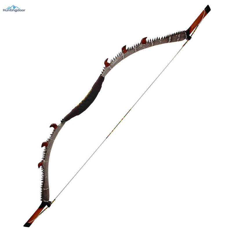 Archery Recurve Bow Traditional Wooden Bow Weight 35lbs,40lbs,45lbs,50lbs Outdoor Hunting Bow 57inch Lift&Right Bow for Adult 35lbs long bow archery hunting black color for adults archery game traditional wooden made hunting bow 1pc