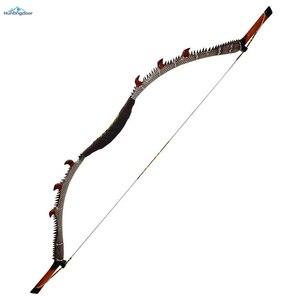 Image 1 - Okçuluk olimpik yay geleneksel ahşap yay ağırlığı 35lbs,40lbs,45lbs,50lbs açık av yayı 57 inç kaldırma ve sağ yay yetişkin için