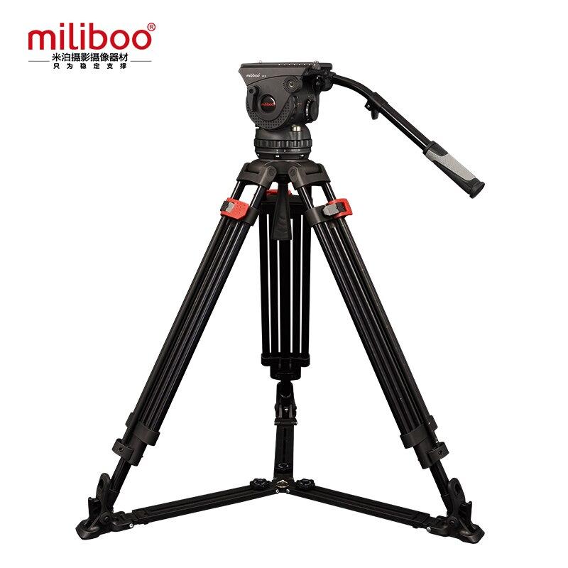 Miliboo Professionnel Film de Diffusion Trépied M15DL 3 Section avec Fluid Head Charge 18 kg Max Hauteur 207 cm Diamètre Du Tube 25mm