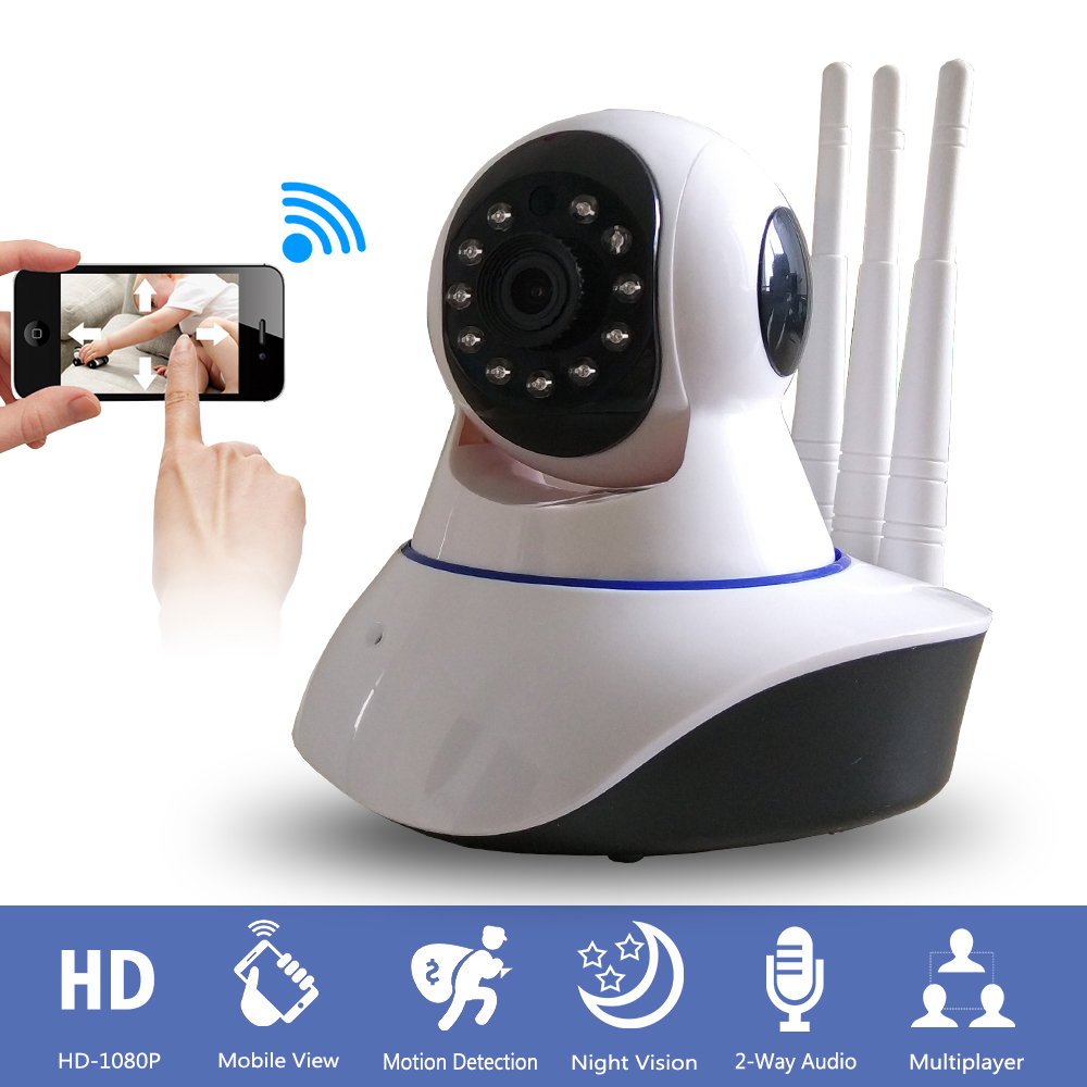 Home font b Wireless b font CCTV Security HD 1080P IP Camera PTZ Onvif IR Night