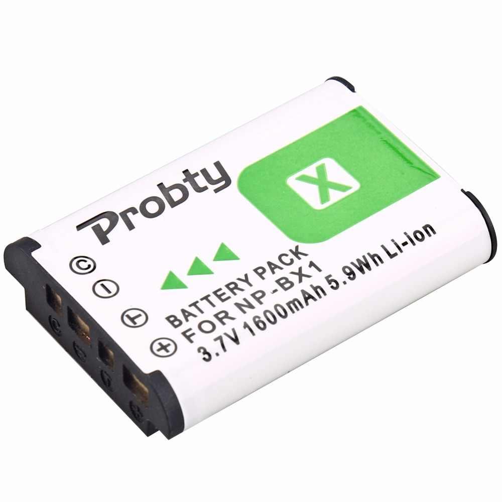 1600 MAh untuk Sony NP BX1 NP-BX1 Baterai + Charger untuk Sony DSC-RX100 X3000 IV HX300 WX300 HDR-AS15 X3000R MV1 AS30V HDR-AS300