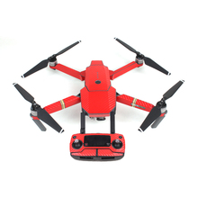 Waterproof Drone Decorative Sticker Decal Skin Wrap Cover for DJI Mavic PRO ()Red)
