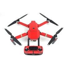 Impermeable drone etiqueta decorativa de la etiqueta engomada cubierta de piel para DJI Mavic Pro () rojo)