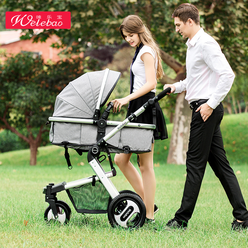 739A High Landscape Baby Stroller Can Sit Four Wheel Shock Absorber Folding Two-way  Baby Child Baby Stroller739A High Landscape Baby Stroller Can Sit Four Wheel Shock Absorber Folding Two-way  Baby Child Baby Stroller