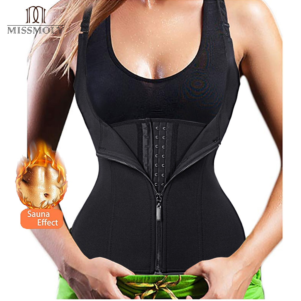 adb8a05e01275 Hot Shapers Neoprene Sauna Sweat Vest Waist Trainer Cincher Women Body  Slimming Trimmer Corset Workout Thermo Push Up Trainer