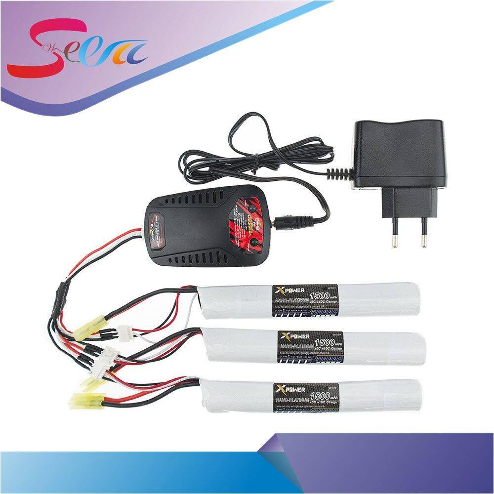 EU plug balance charger 1to3 cable 3pcs 7.4V 1500MAH 25C XPower RC Lipo battery AKKU Mini Airsoft Gun Battery RC model Wholesale 10cm 100mm rc lipo battery balance charger plug 2s 3s 4s 5s 6s cable for rc helicopter 10 pcs