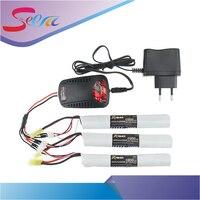 EU plug balance charger 1to3 cable 3pcs 7.4V 1500MAH 25C XPower RC Lipo battery AKKU Mini Airsoft Gun Battery RC model Wholesale