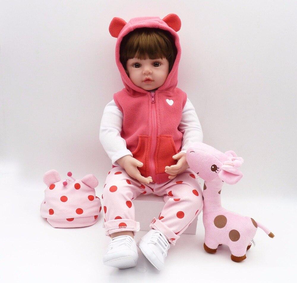 Bebe poupée reborn 48 cm Silicone reborn bébé poupée adorable Réaliste enfant Bonecas fille kid menina de silicone surprice poupée lol - 3