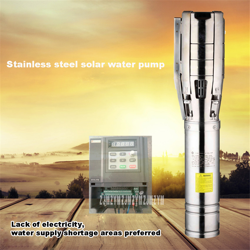 New Hot 750W DC48V Solar Water Pump Farmland Irrigation System Deep Well Submersible Pump 60 / 78m High lift 3SSW3-78-48-750 50mm 2 inch deep well submersible water pump deep well water pump 220v screw submersible water pump for home 2 inch well pump