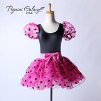 New Style Dancing Dress Girls Ballet Tutu Suit Kids Short Sleeve Ballet Dance Suit Pengpeng Dance Stage Assembly Suit B 6368