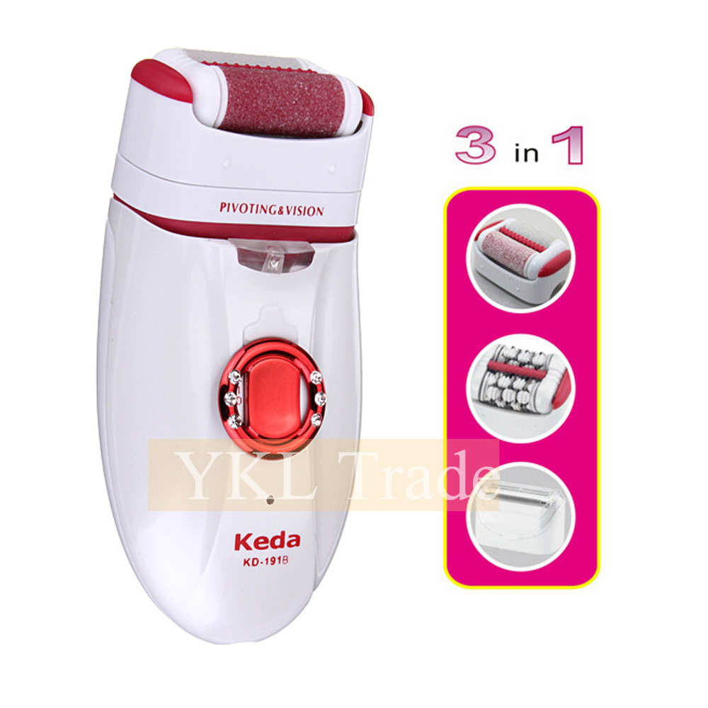 3 in 1 Lady Shaver Women Electric Epilator Callus Remover Female Depilatory Hair Remover Body Bikini Face Upper Lip Rechargeable